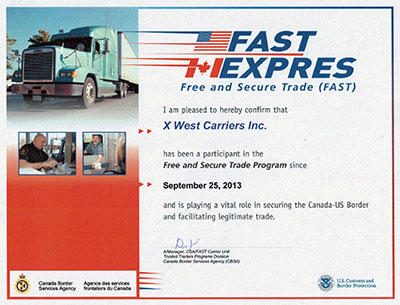 Fast Express Free and Secure Trade Program